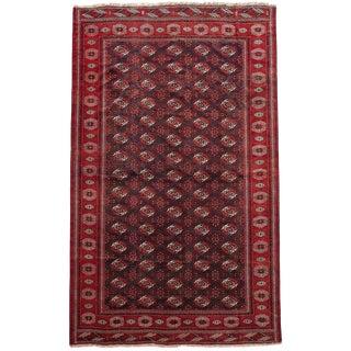 Persian Bokhara Turkoman Handwoven Rug For Sale