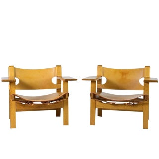 "Pair of Børge Mogensen ""Spanish"" Chairs For Sale"