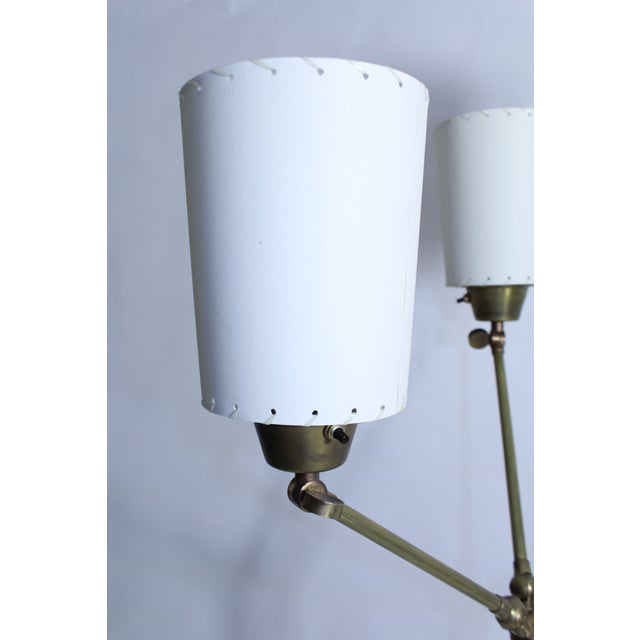 Mid 19th Century Jacques Adnet Multi Shade Floor Lamp For Sale - Image 5 of 8