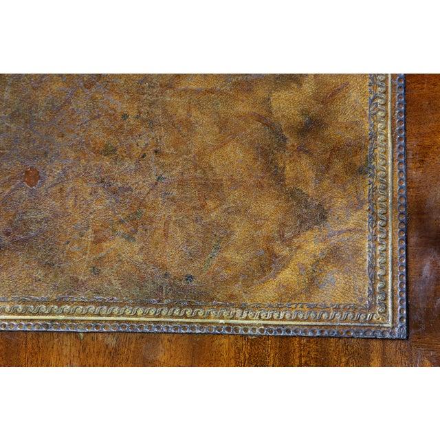 Metal George III Diminutive Mahogany and Satinwood Secretaire For Sale - Image 7 of 13