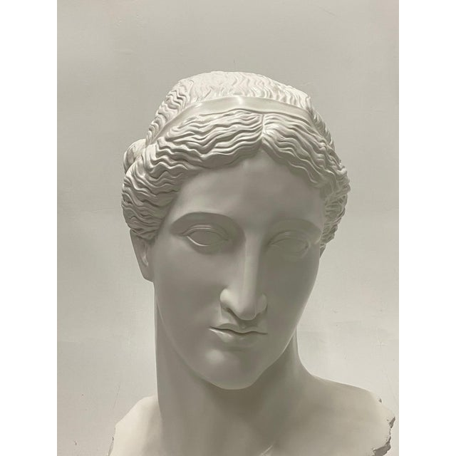 Romantic Fiberglass Bust of Diana, Sculpture For Sale - Image 4 of 13