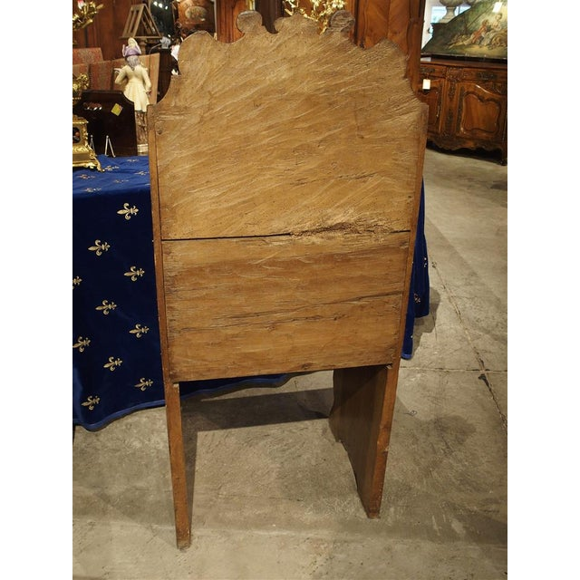 Italian Antique Walnut Wood Armchair from Italy, 1700s For Sale - Image 3 of 10