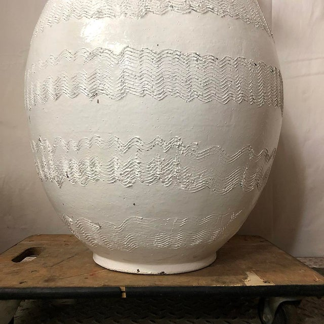 1960s Massive Bitossi Textured Garden Urn For Sale - Image 5 of 8