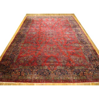 Antique Oriental Carpet in Large Size With Floral Design & Vases Preview