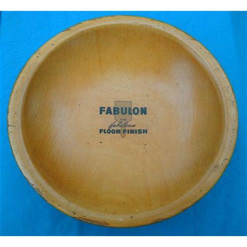Americana Vintage Bread Dough Bowl, Salesman's Sample Advertising For Sale - Image 3 of 3