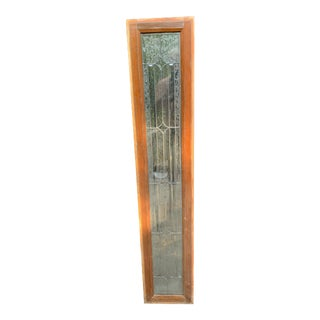 Antique Victorian Beveled Window For Sale