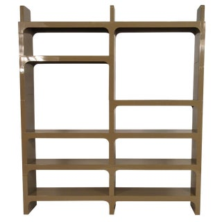 1970s Plastic Bookcase by Olaf Von Bohr for Kartell For Sale