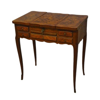 Antique French Satinwood Inlaid Vanity