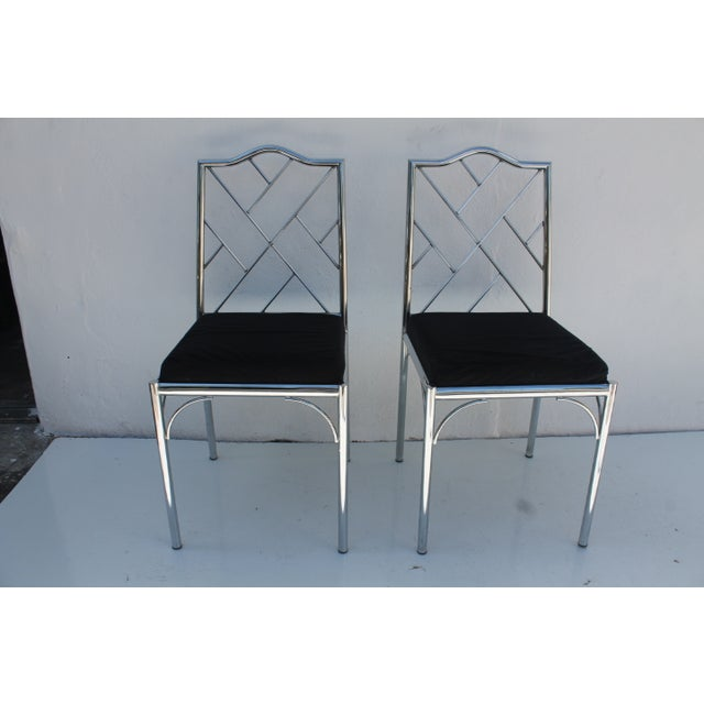 Vintage Chrome Dining Chairs - Pair - Image 2 of 7