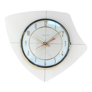 French Mid-Century Wall Clock For Sale