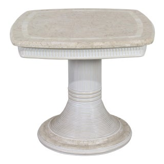 Tessellated Stone Side Table For Sale
