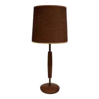 Danish Modern Teak Sleek Table Lamp