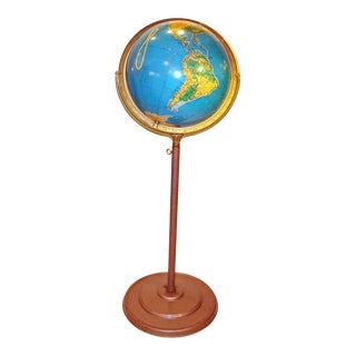 Vintage Globe on Floor Stand For Sale