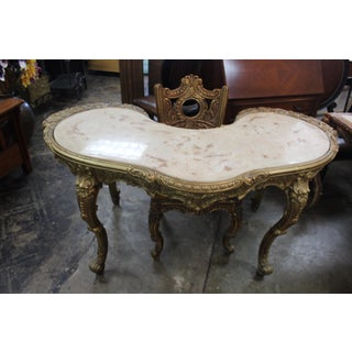 1970s Baroque Kidney Shaped Desk with Chair - 2 Pieces Preview