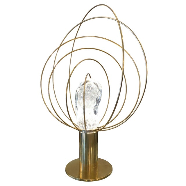 """""""Barnaba"""" Brass Table Lamp by Angelo Brotto for Esperia For Sale - Image 5 of 6"""