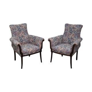 Vintage 1940s Mahogany Regency Host Chairs - Pair