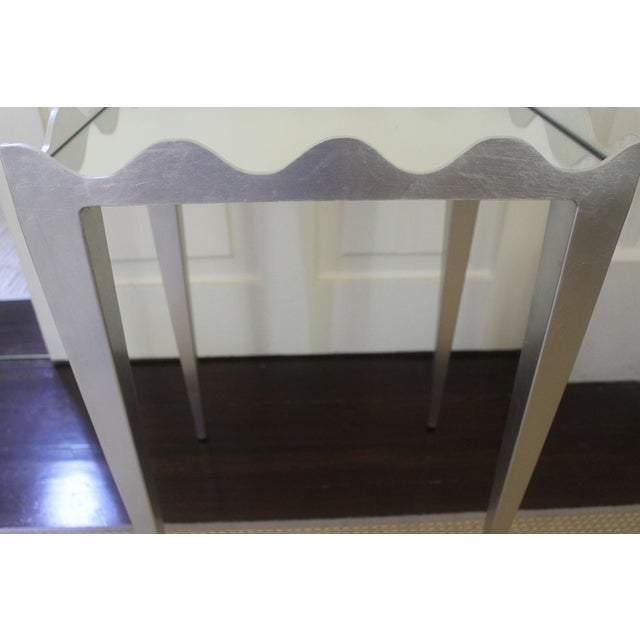 Worlds Away Wave Edge Side Table For Sale In New Orleans - Image 6 of 10