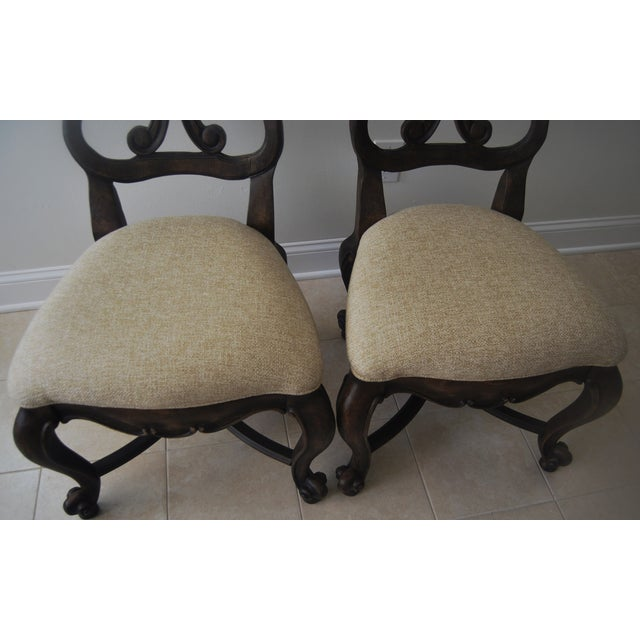 A Pair of French Style Wood Back Side Chairs - Image 3 of 11