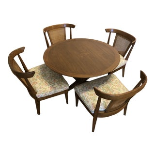 Mid-Century Adjustable Game Table With Matching Chairs Set For Sale