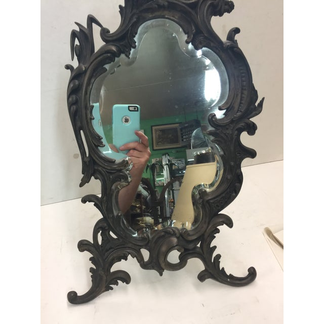 "Beautiful Antique Rococo Table Mirror with beveled glass. This is a large size 22"" tall x 13"" wide x 3"" deep, Excellent..."