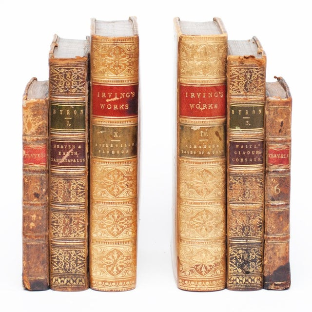 18th Century American Classical Antique Book Bookends - a Pair For Sale - Image 10 of 10