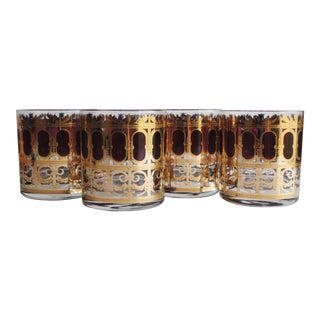 Vintage Culver Rocks Glasses - Set of 4