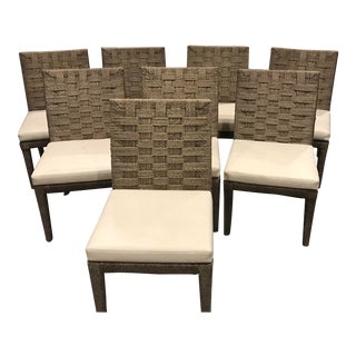 Hopkins Rope Side Chairs From the Wicker Works - Set of 8 For Sale