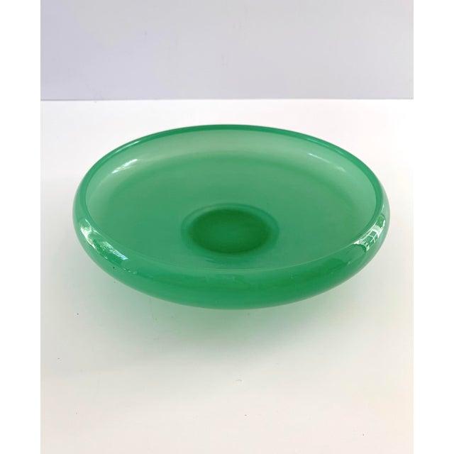 Art Deco Vintage Green Jadeite Glass Bowl For Sale - Image 3 of 8
