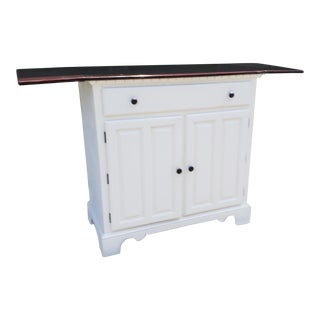 Vintage Country White Buffet/Bar For Sale