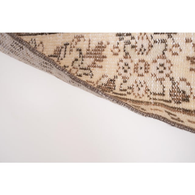 "Vintage Anatolian Oushak Kars Handwoven Distressed Ushak Area Rug 5'12"" X 9'8"" For Sale - Image 9 of 11"