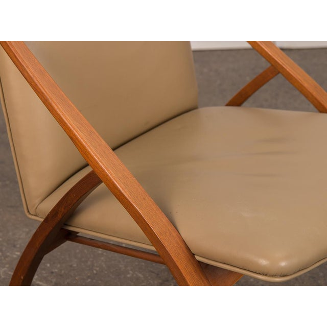 Tan Swedish Armless Sculpted Lounge Chair For Sale - Image 8 of 10