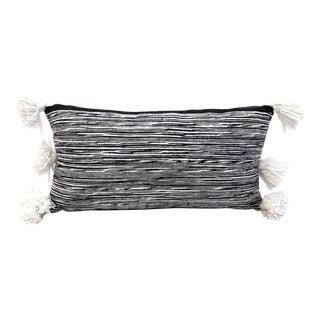 Moroccan Cotton Pom Pom Pillow For Sale