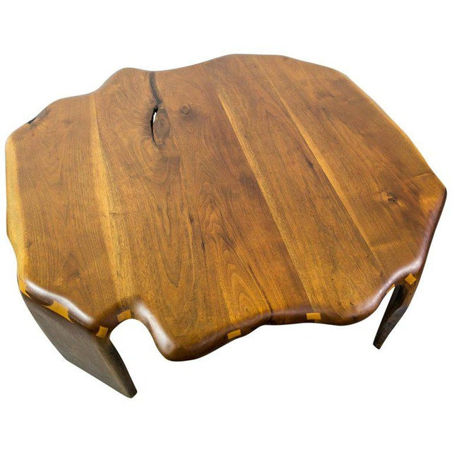 One of a Kind James Monroe Camp Studio Coffee Table in Walnut Usa 1975 For Sale - Image 9 of 9