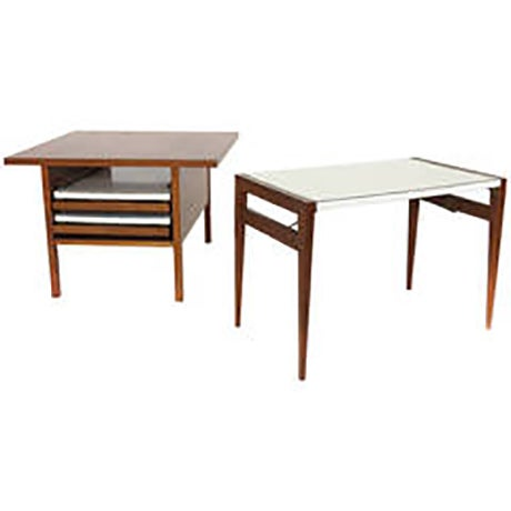 Mid-Century Modern Vintage John Keal for Brown Saltman Side Table For Sale - Image 3 of 6