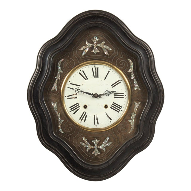 19th-C. French Napoleon III Wall Clock For Sale