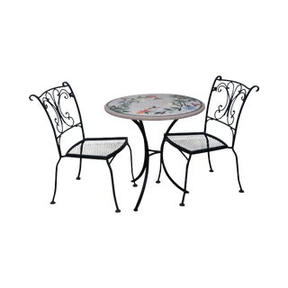 Wrought Iron Bistro Set - Set of 3 For Sale