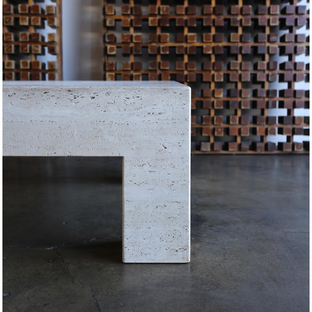 Travertine Coffee Table For Sale In Los Angeles - Image 6 of 9