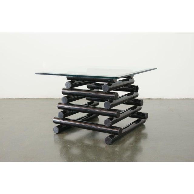 Black Vintage Mod Side Table For Sale - Image 8 of 8