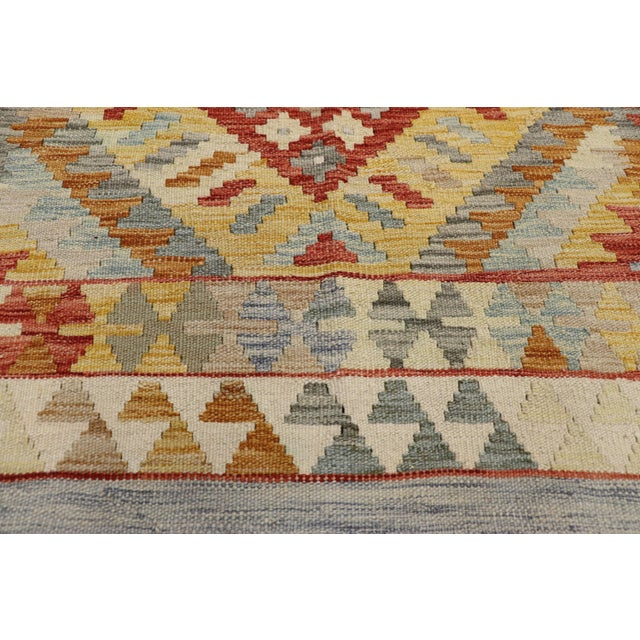 Textile 20th Century Boho Chic Afghani Shirvan Kilim Rug With Tribal Style For Sale - Image 7 of 11
