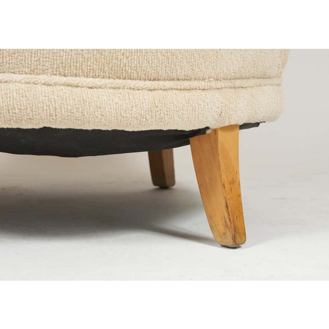 1940s Barrel Back Moderne Freshly Upholstered Lounge Chairs After Gilbert Rohde, Pair For Sale - Image 11 of 12