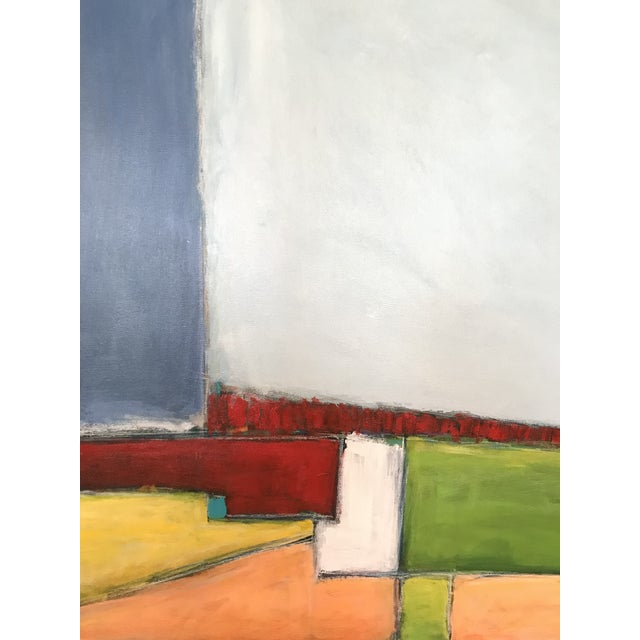 """2010s """"Primary Landscape"""" - Contemporary Abstract Landscape Painting For Sale - Image 5 of 6"""