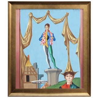 "Jean-Pierre Clement ""Jesters"" Oil Painting For Sale"