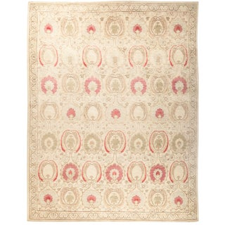 "Suzani Hand Knotted Area Rug - 9'1"" X 11'7"" For Sale"