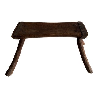 Early 20th Century Primitive Hewn Bench For Sale