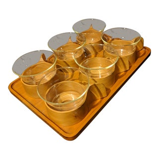 Schott & Gen Mainz Jenaer Glas Coffee Cups & Serving Tray