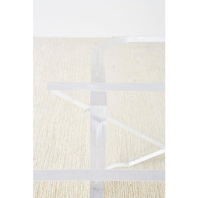 Late 20th Century Monumental Italian Moderne Sculptural Lucite Dining Table For Sale - Image 5 of 13