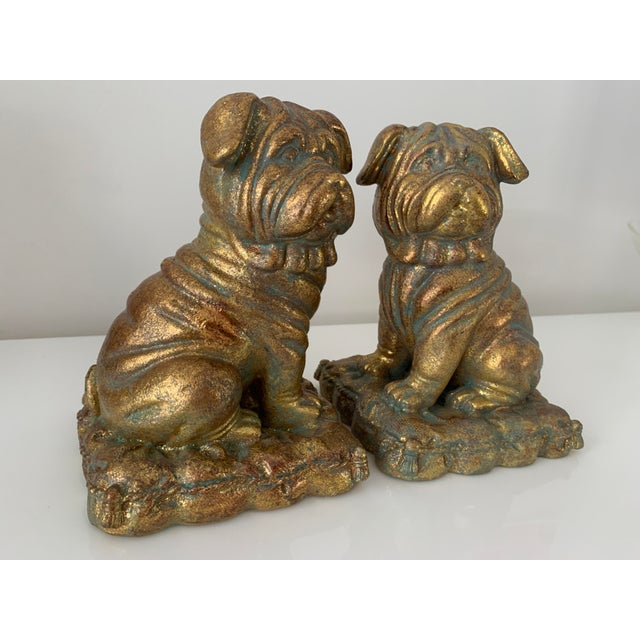 """""""Borghese"""" Gilt Pug Bookends - a Pair For Sale - Image 4 of 9"""