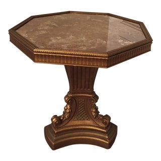 Italian Plaster Base Eglomise Side Table For Sale