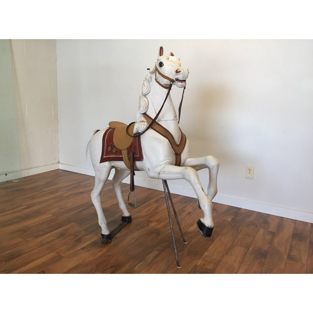 Antique Carved Wood Carousel Horse - Image 4 of 11