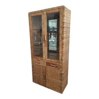 Vintage Bielecky Brothers Glass Door Cabinet